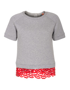 MSGM Sweet Lips Grey
