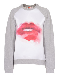 MSGM Lips Raglan Grey