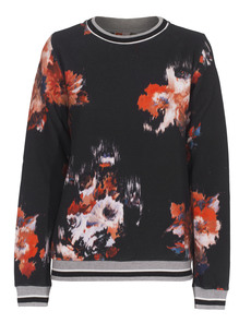 MSGM Flower Art Black