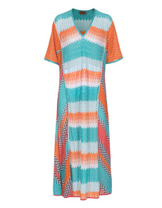 MISSONI Extra long ocean and sun turquoise red
