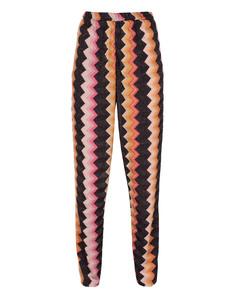 MISSONI Pantalone Zig Zag Orange Black