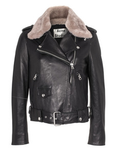 ACNE STUDIOS Mape Shearling Black With Stone
