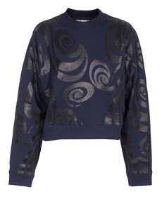 ACNE STUDIOS Bird Allover Spiral Navy Black