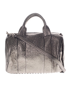 ALEXANDER WANG Rocco Pebbled Metallic Silver