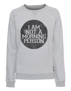 ADDMYBERRY Morning Person Sweat Heather Grey