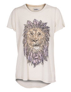 LAUREN MOSHI Edda Feather Lion Natural Beige