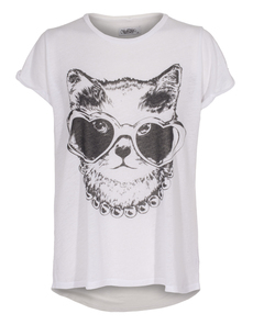 LAUREN MOSHI Edda Cat Sunglasses White