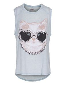 LAUREN MOSHI Riley Cut-Off Cat Sunglasses Rosery Blue