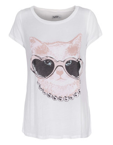 LAUREN MOSHI Riley Cat Sunglasses Rosery White