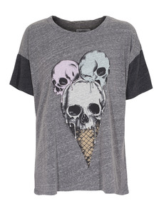 LAUREN MOSHI Skull Ice Cream Heather Grey