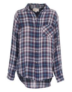 CURRENT/ELLIOTT The Prep School Shirt Undertow Plaid Blue