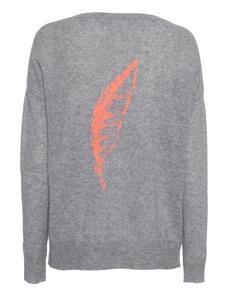 360 SWEATER Feather Grey Tangerine