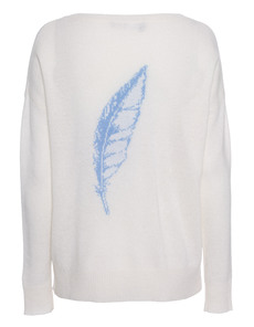 360 SWEATER Feather Ivory Capriblue