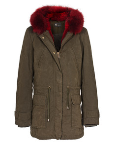 IQ BERLIN Army Olive Red Fur