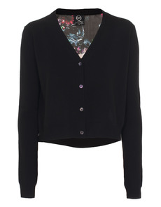 McQ by Alexander McQueen Cropped Floral Black