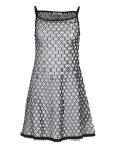 D.EXTERIOR Crochet Floral Black