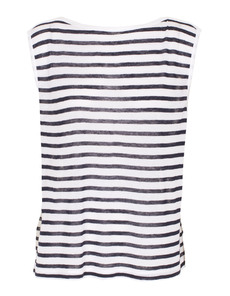 T BY ALEXANDER WANG Stripe Boatneck White And Blue