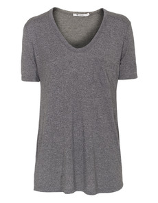 T BY ALEXANDER WANG Heathered Classic Pocket V-Neck Grey
