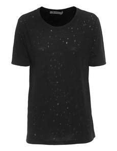T BY ALEXANDER WANG Distressed Holey Jacquard Jersey