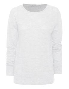 T BY ALEXANDER WANG Linen Silk Jersey White