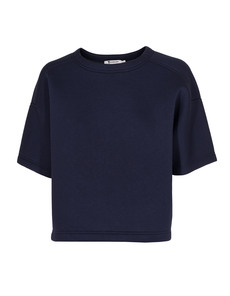T BY ALEXANDER WANG Cropped Sweat Short Scuba Navy