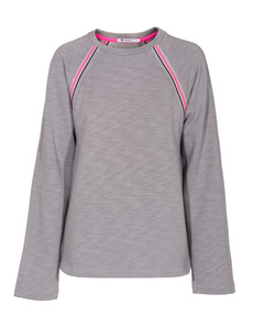 T BY ALEXANDER WANG Raglan Race Sweat Grey