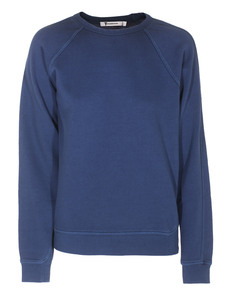 T BY ALEXANDER WANG Vintage Fleece Round Neck Blue