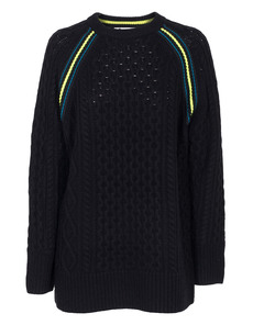 T BY ALEXANDER WANG Cable Knit Long Race Black