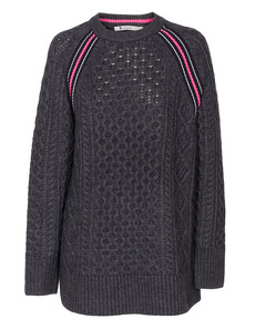 T BY ALEXANDER WANG Cable Knit Long Race Grey