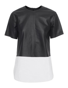 T BY ALEXANDER WANG Matte Leather Black White