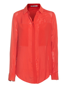 T BY ALEXANDER WANG Paneled Silk Red