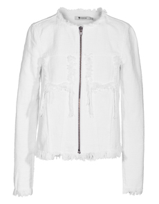 T BY ALEXANDER WANG Clean Weave Collarless White