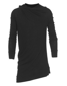 JULIUS Draped Neck Black