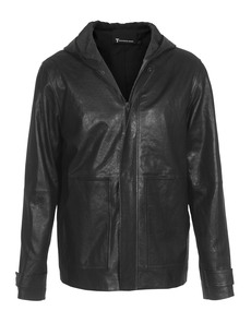 T BY ALEXANDER WANG Leather Hood Black