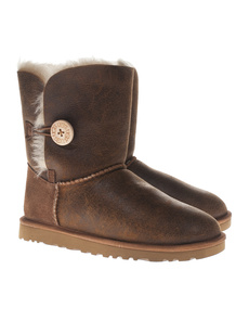UGG Bailey Button Bomber Cognac