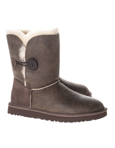 UGG Short Bailey Button Bomber Mid Brown