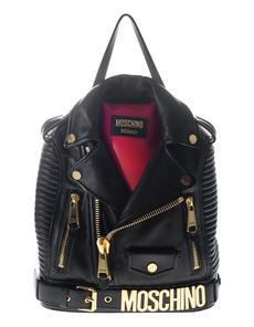 Moschino Leather Biker Back Black
