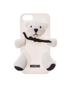 MOSCHINO Bear Bow White