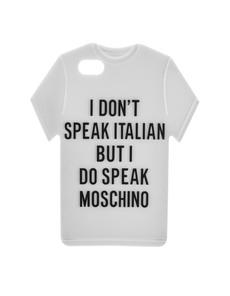 MOSCHINO Tee Slogan White