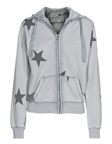 JUVIA Star Zip Washed Grey