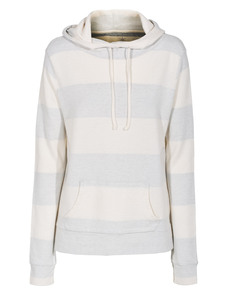 JUVIA Inside Stripe Hood Off-White