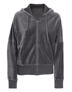 JUVIA Zip Hood Velour Grey