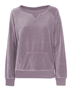 JUVIA Boyfriend Sweat Velour Mauve
