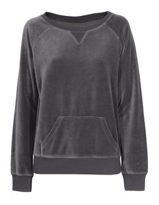 JUVIA Boyfriend Sweat Velour Grey