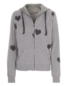 JUVIA Heart Zip Heather Grey