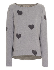 JUVIA Heart Sweat Heather Grey
