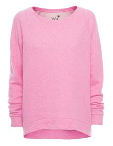 JUVIA Cozy Raglan Hem Pink