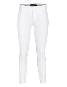 J BRAND 8040 Tali Zip Mid-Rise Skinny Blanc