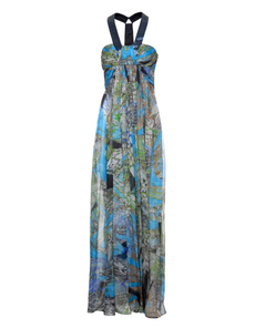 Matthew Williamson Kleid Batik Blue