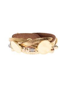 YUTA PASCH Braided Coin Pearl Gold